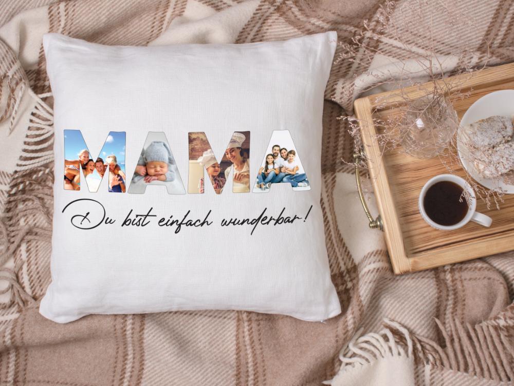 Fotokissen Mama mit 4 Bildern deiner Wahl Kissen Geschenk